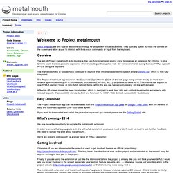 metalmouth - Developing an open source voice browser extension for Chrome