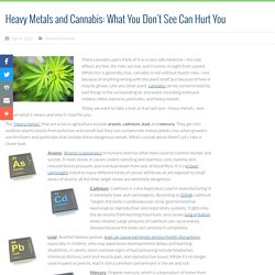 Heavy Metals and Cannabis: What You Don't See Can Hurt You ~ United Patients Group