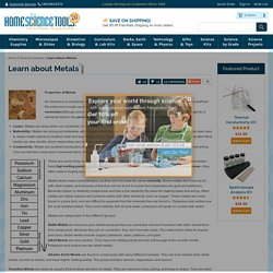Learn about Metals: Properties, Corrosion, Alloys, Ores