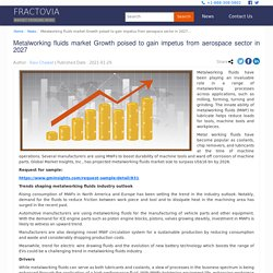 Metalworking fluids market Growth poised to gain impetus from aerospace sector in 2027 - Fractovia.org