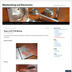 Metalworking and Electronics