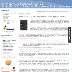 """Mon avis sur """" Les métamorphoses du calcul"""" de Gilles Dowek"""
