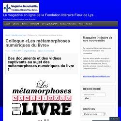 Le magazine en ligne de la Fondation littéraire Fleur de Lys