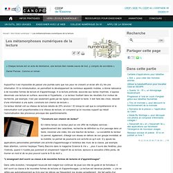 Les métamorphoses numériques de la lecture
