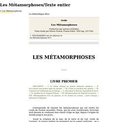 Les Métamorphoses/Texte entier