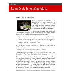 Métaphores et métonymies - Le goût de la psychanalyse Le goût de la psychanalyse