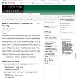 Metaphors in Complexity Theory and Planning