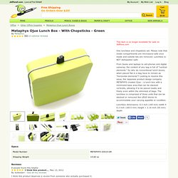 Metaphys Ojue Lunch Box - With Chopsticks - Green
