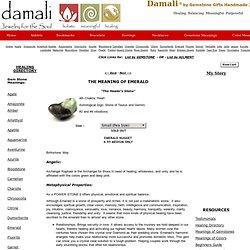Gemstone Meanings: Meaning of Emerald for Spiritual Healing, Chakra Balancing, Metaphysical Properties