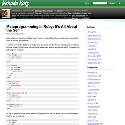 Metaprogramming in Ruby: It's All About the Self