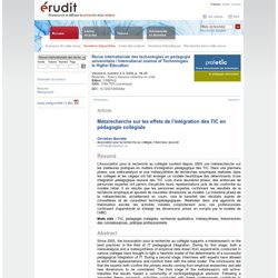 Revue internationale des technologies en pédagogie universitaire v6 n2-3 2009, p. 18-25