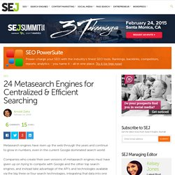 24 Metasearch Engines for Centralized & Efficient Searching - Search Engine Journal