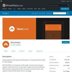 MetaSlider – WordPress plugin