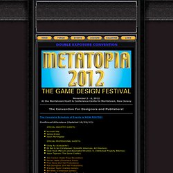 METATOPIA 2012 - The Game Design Festival