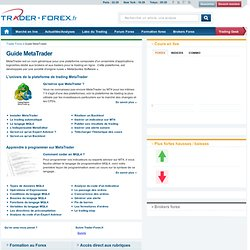 Guide MetaTrader : MQL4, EA, Programmation...