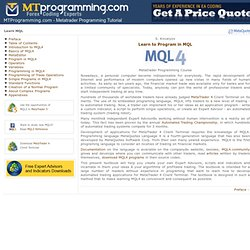 Learn Metatrader Programming - MT4 MQL4 Tutorial