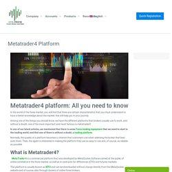 Metatrader4 Platform - Best Forex Broker