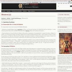Metatron [2] « Etudes Kabbalistiques « Kabbale