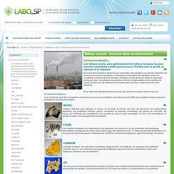 Métaux Lourds - Sources dans environnement
