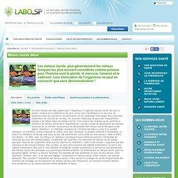 Métaux lourds - LaboSP - Thérapies naturelles