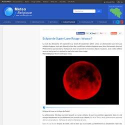 Météo en Belgique - Eclipse de Super Lune Rouge : késaco ?