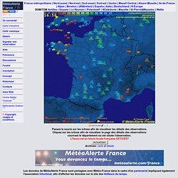 METEO ALERTE France - Carte de situation et alertes météo temps réel : France Métropolitaine - vigilance