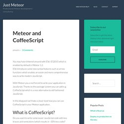 Meteor and CoffeeScript - Just Meteor