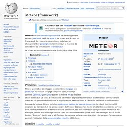 Meteor (framework)