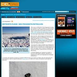 Météorite russe : des fragments retrouvés