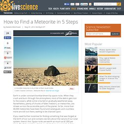 How to Find a Meteorite