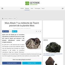 Mars Attack ? La météorite de Tissint provient de la planète Mars