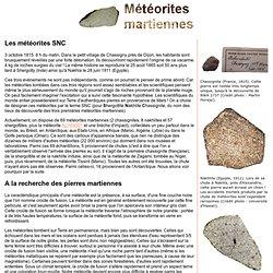 Météorites martiennes