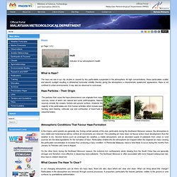 Malaysian Meteorological Department - Haze