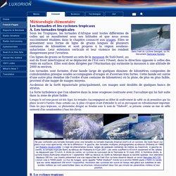 Météorologie élémentaire - Les cyclones et tornades tropicaux