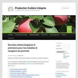 IRDA 04/07/16 Données météorologiques et prévisions pour les maladies et ravageurs du pommier