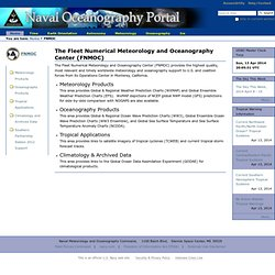 The Fleet Numerical Meteorology and Oceanography Center (FNMOC) — Naval Oceanography Portal