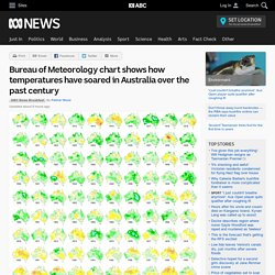 Bureau of Meteorology chart shows how temperatures have soared in Australia over the past century