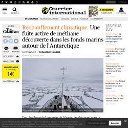 Une fuite active de méthane découverte dans les fonds marins autour de l'Antarctique