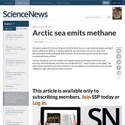 Arctic Sea Emits Methane
