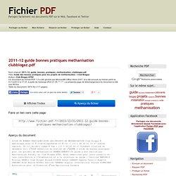 2011-12 guide bonnes pratiques methanisation clubbiogaz