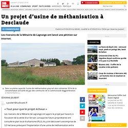 SUD OUEST 07/05/14 Un projet d'usine de méthanisation à Desclaude