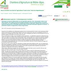 CHAMBRE D AGRICULTURE DE RHONE ALPES - Méthanisation agricole : le développement s'accélère.