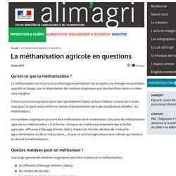 MAA 12/06/17 La méthanisation agricole en questions