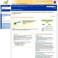 Collecte des déchets alimentaires de cantine scolaire et valorisation par méthanisation + sensibilisation au gaspillage alimentaire : OPTIGEDE