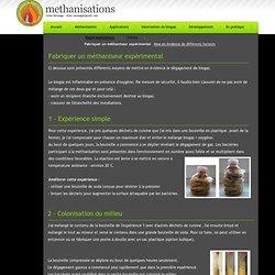 methanisations > Fabriquer un méthaniseur expérimental