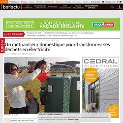 Un méthaniseur domestique pour transformer ses déchets en électricité