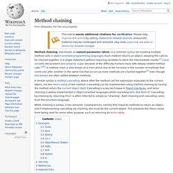 Method chaining - Wikipedia