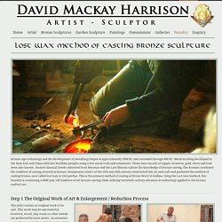 Lost Wax Method - David Mackay Harrison - Artist Sculptor - David Mackay Harrison – Artist Sculptor
