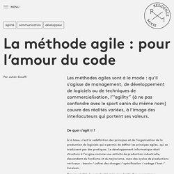 La méthode agile : pour l'amour du code - Résidence Mixte