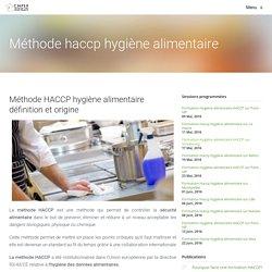 Méthode haccp hygiène alimentaire définition et origine
